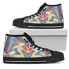Liquid Holographic Trippy Print Men's High Top Shoes GearFrost