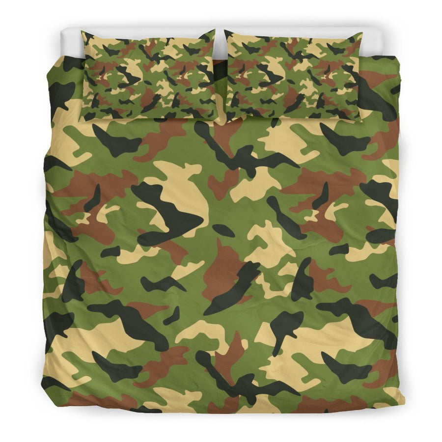 Military Camouflage Print Duvet Cover Bedding Set GearFrost