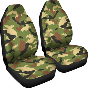 Military Camouflage Print Universal Fit Car Seat Covers GearFrost