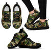 Military Green Camouflage Print Women's Sneakers GearFrost