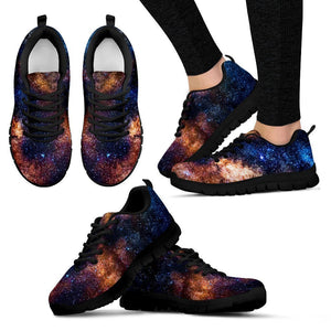 Milky Way Universe Galaxy Space Print Women's Sneakers GearFrost