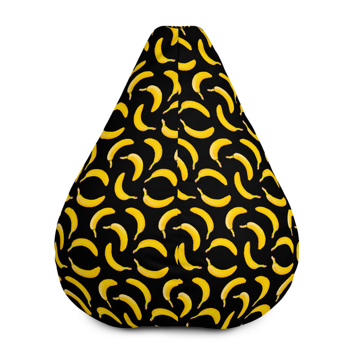 Black Banana Pattern Print Bean Bag Chair