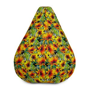 Autumn Sunflower Pattern Print Bean Bag Chair