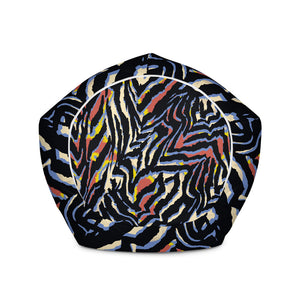 Abstract Zebra Pattern Print Bean Bag Chair