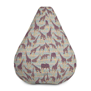 Aztec Giraffe Pattern Print Bean Bag Chair