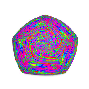 Abstract Psychedelic Liquid Trippy Print Bean Bag Chair