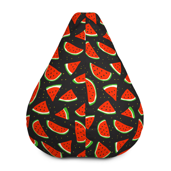 Black Cute Watermelon Pattern Print Bean Bag Chair