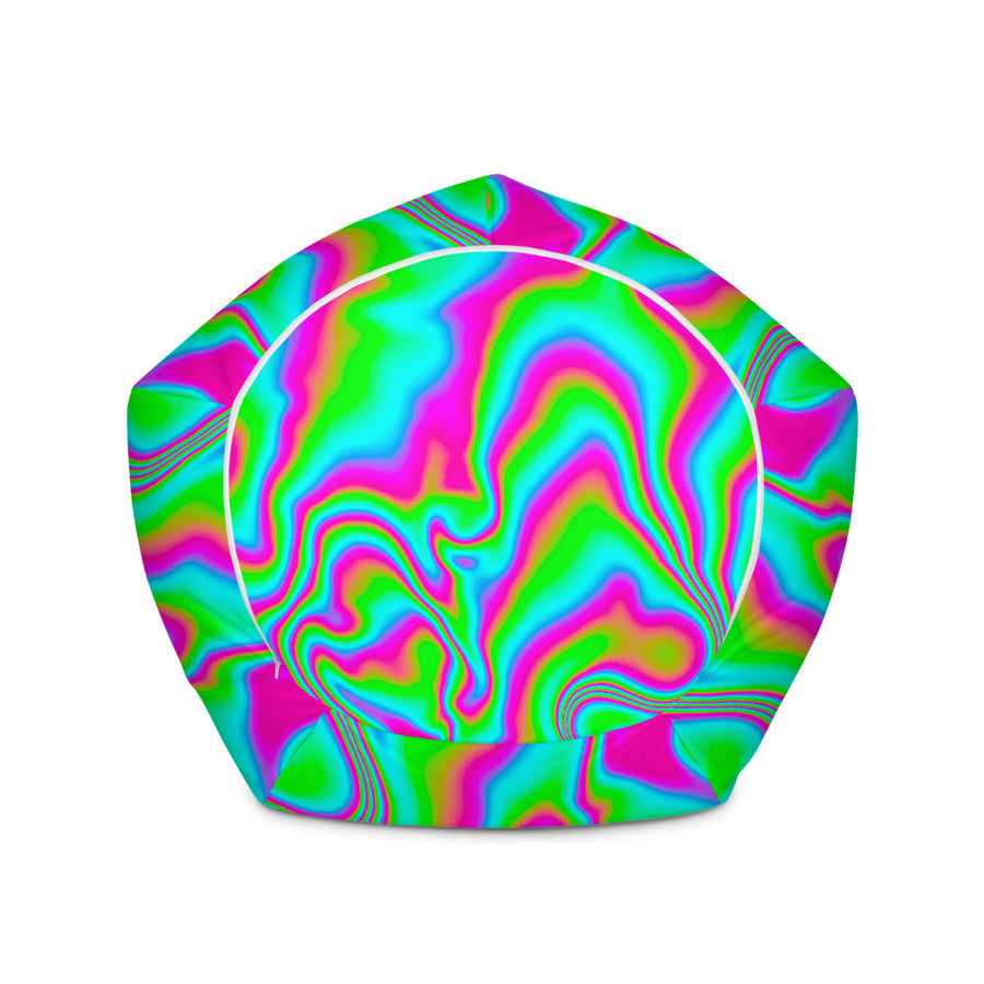 Abstract Psychedelic Trippy Print Bean Bag Chair