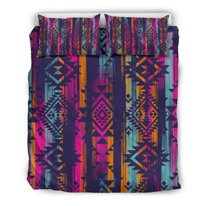 Native Tribal Aztec Pattern Print Duvet Cover Bedding Set GearFrost