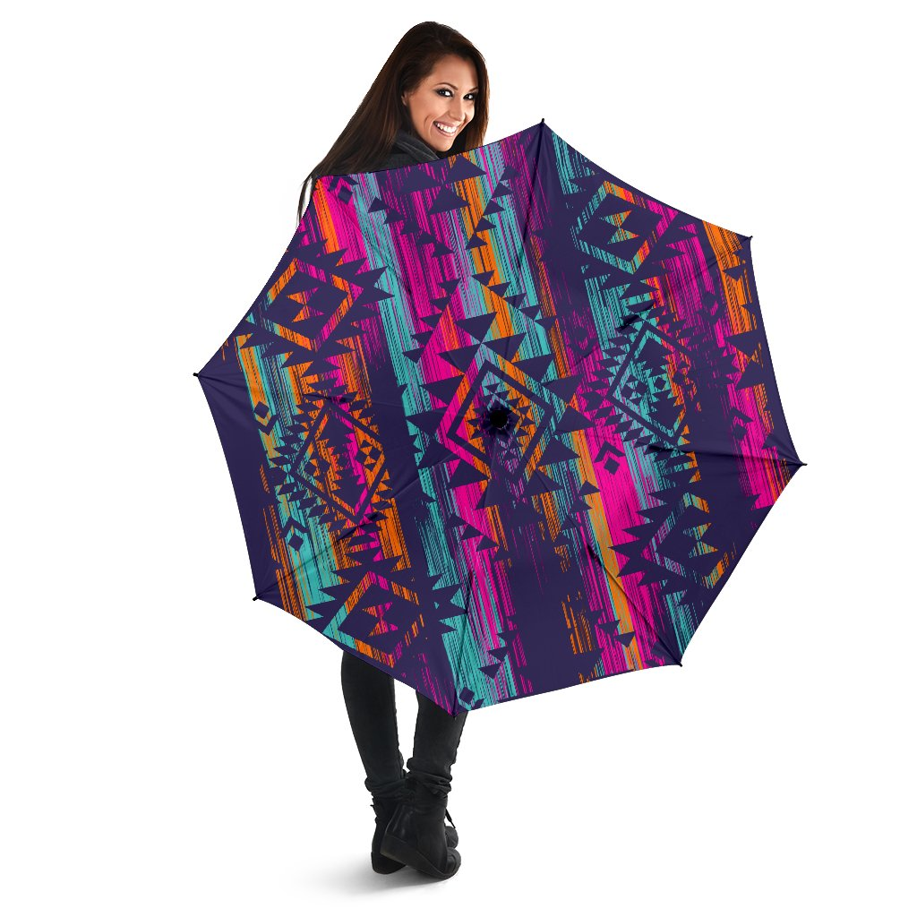 Native Tribal Aztec Pattern Print Foldable Umbrella GearFrost