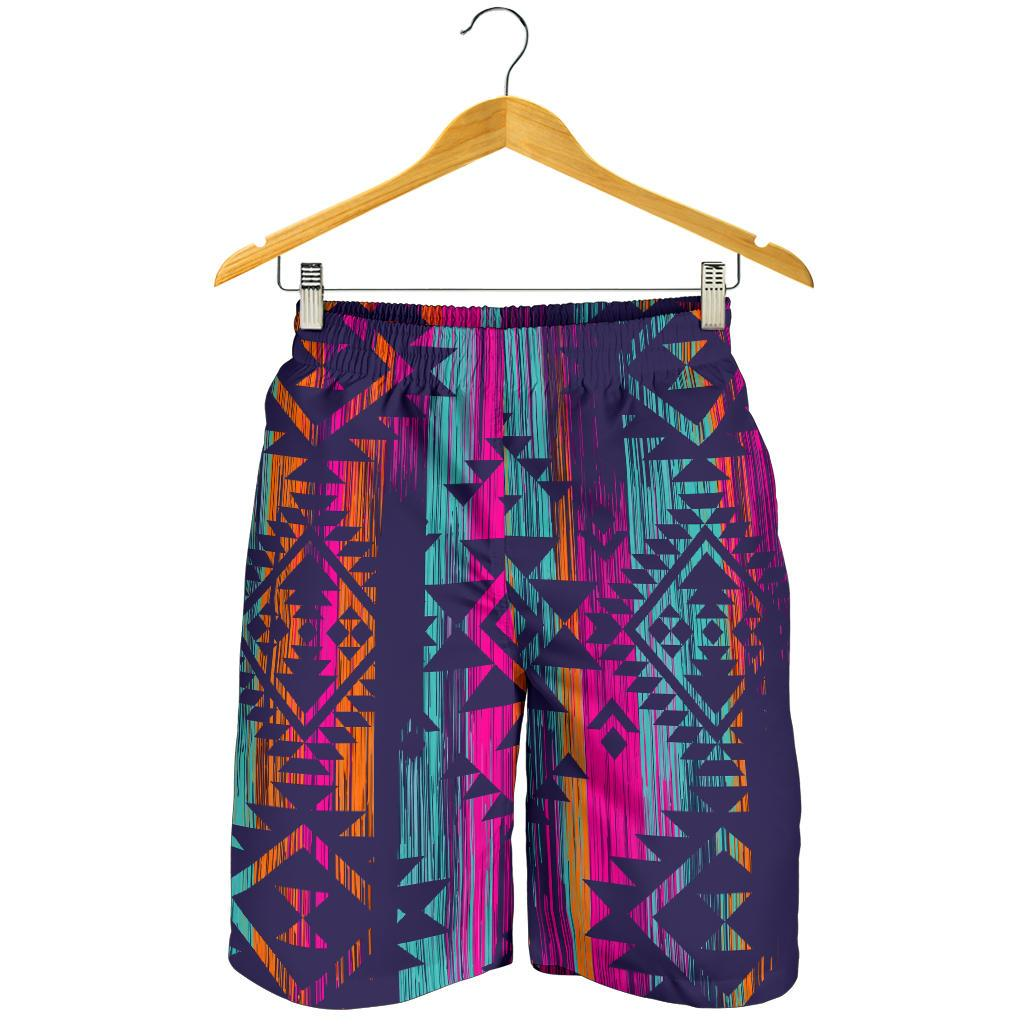 Native Tribal Aztec Pattern Print Men's Shorts GearFrost