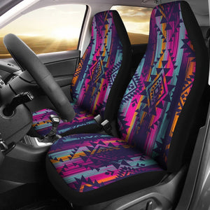 Native Tribal Aztec Pattern Print Universal Fit Car Seat Covers GearFrost