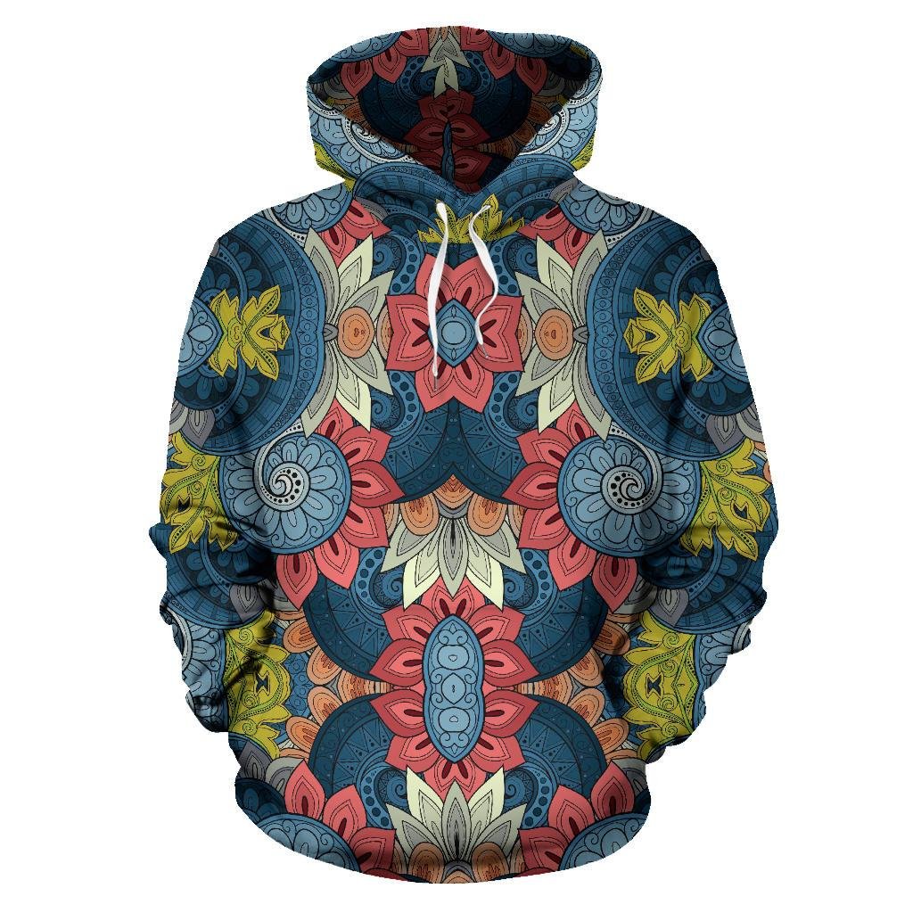 Native Tribal Bohemian Pattern Print Pullover Hoodie GearFrost