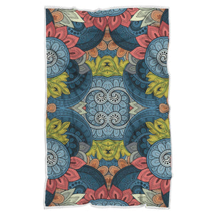 Native Tribal Bohemian Pattern Print Sherpa Blanket GearFrost