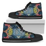 Native Tribal Bohemian Pattern Print Women's High Top Shoes GearFrost