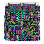 Neon Native Aztec Pattern Print Duvet Cover Bedding Set GearFrost