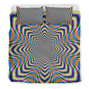 Octagonal Psychedelic Optical Illusion Duvet Cover Bedding Set GearFrost
