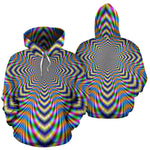 Octagonal Psychedelic Optical Illusion Pullover Hoodie GearFrost