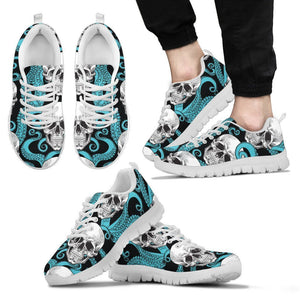 Octopus Tentacles Skull Pattern Print Men's Sneakers GearFrost