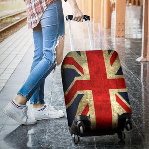 Old Union Jack British Flag Print Luggage Cover GearFrost