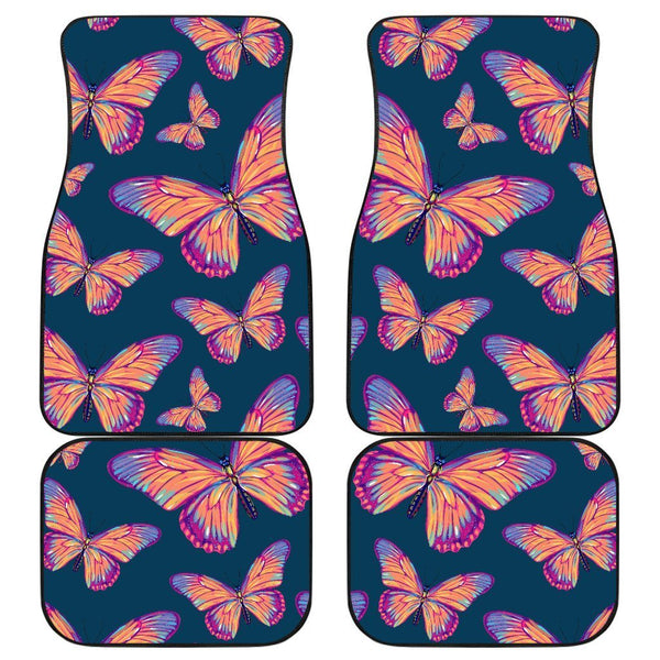 07d1b3e66 Orange And Purple Butterfly Print Front and Back Car Floor Mats – GearFrost