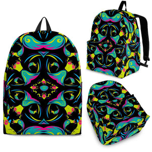 Ornament Psychedelic Trippy Print Backpack GearFrost