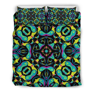 Ornament Psychedelic Trippy Print Duvet Cover Bedding Set GearFrost