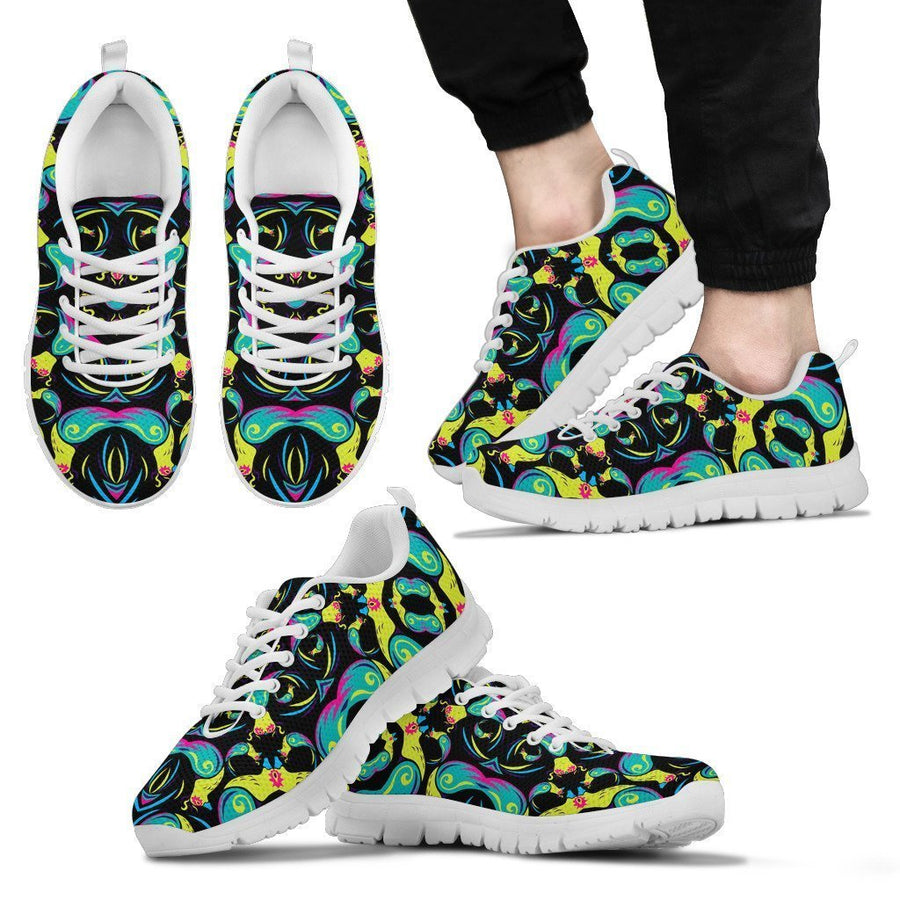 Ornament Psychedelic Trippy Print Men's Sneakers GearFrost