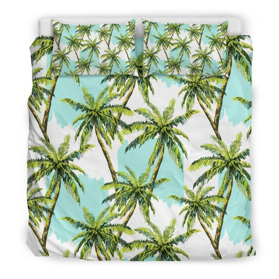 Palm Tree Tropical Pattern Print Duvet Cover Bedding Set GearFrost