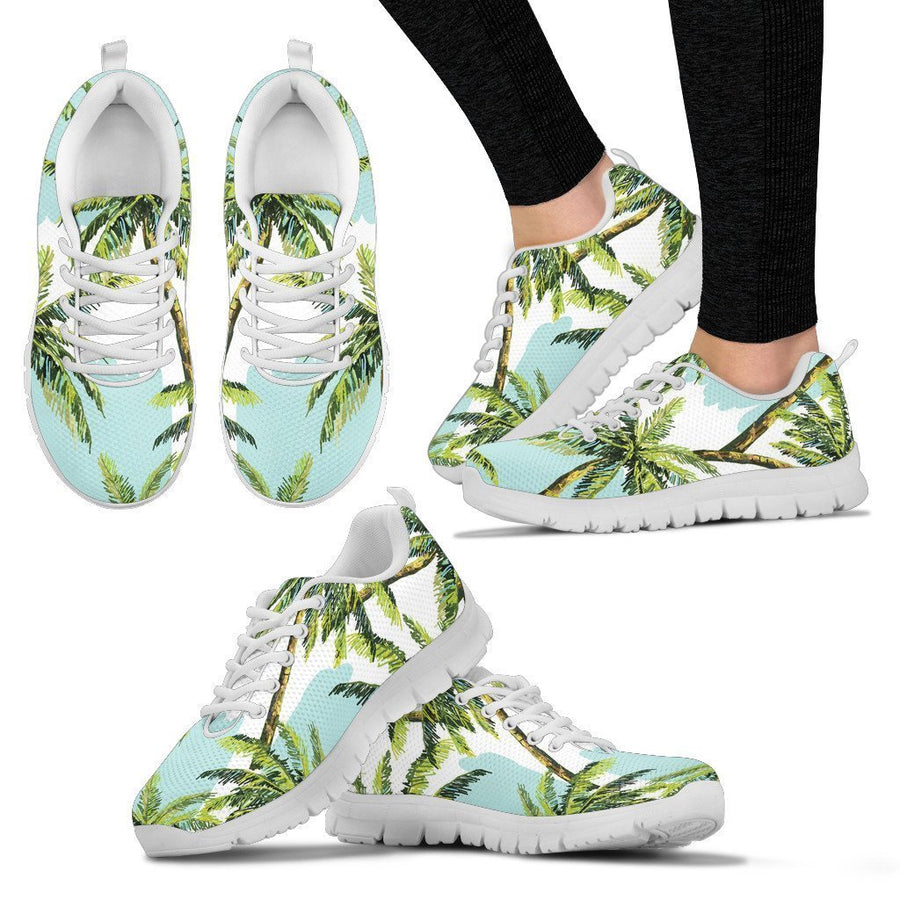 Palm Tree Tropical Pattern Print Women's Sneakers GearFrost