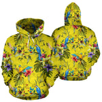 Parrot Tropical Pattern Print Pullover Hoodie GearFrost