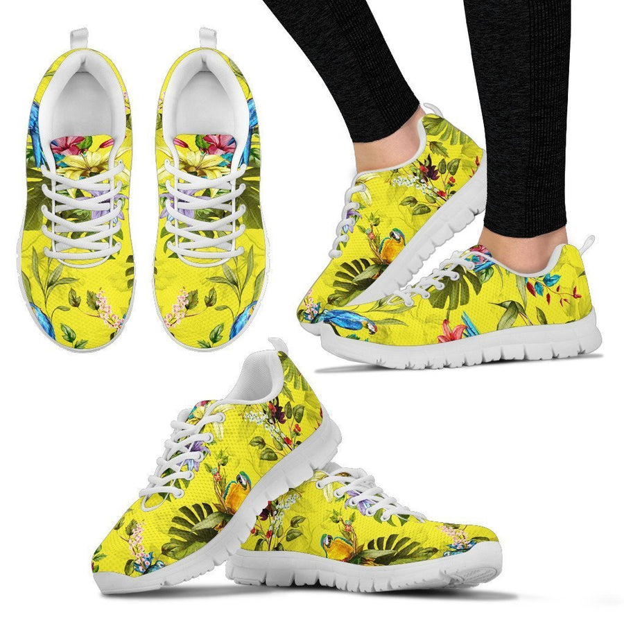 Parrot Tropical Pattern Print Women's Sneakers GearFrost