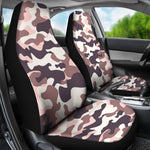 Pink Brown Camouflage Print Universal Fit Car Seat Covers GearFrost