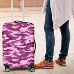 Pink Camouflage Print Luggage Cover GearFrost
