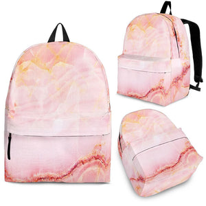 Pink Marble Print Backpack GearFrost