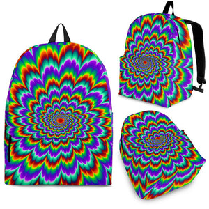 Psychedelic Expansion Optical Illusion Backpack GearFrost