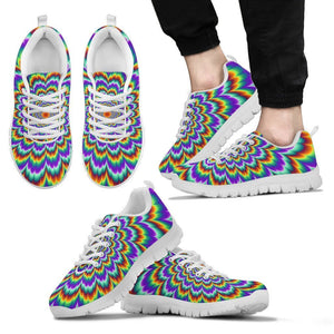 Psychedelic Expansion Optical Illusion Men's Sneakers GearFrost