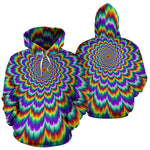 Psychedelic Expansion Optical Illusion Pullover Hoodie GearFrost