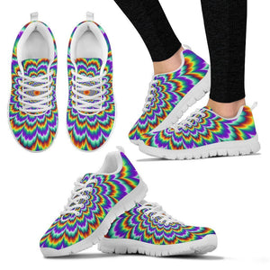 Psychedelic Expansion Optical Illusion Women's Sneakers GearFrost