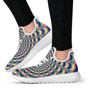 Psychedelic Explosion Optical Illusion Mesh Knit Shoes GearFrost