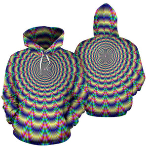 Psychedelic Explosion Optical Illusion Pullover Hoodie GearFrost