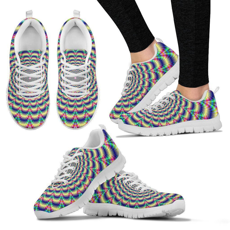 Psychedelic Explosion Optical Illusion Women's Sneakers GearFrost