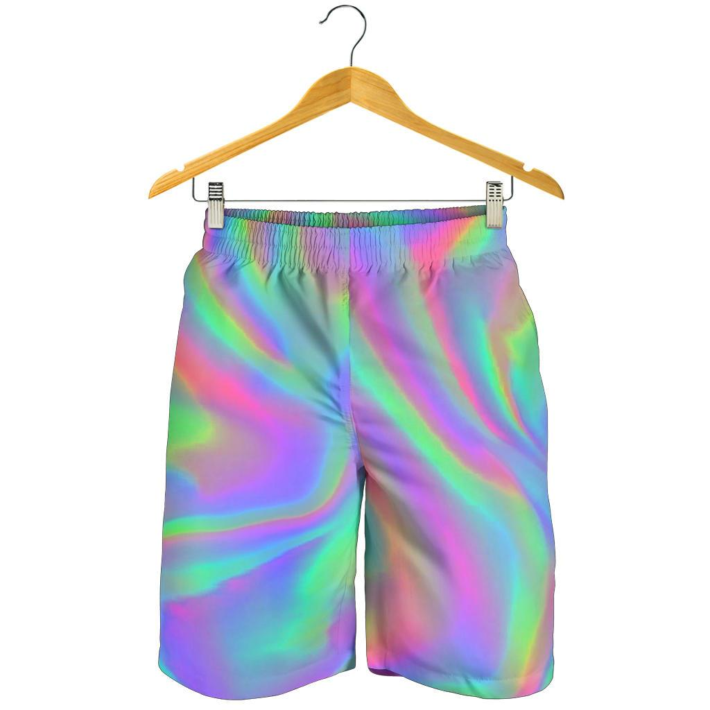 Psychedelic Holographic Trippy Print Men's Shorts GearFrost