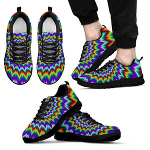 Psychedelic Spiral Optical Illusion Men's Sneakers GearFrost