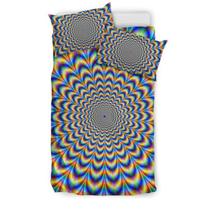 Psychedelic Wave Optical Illusion Duvet Cover Bedding Set GearFrost