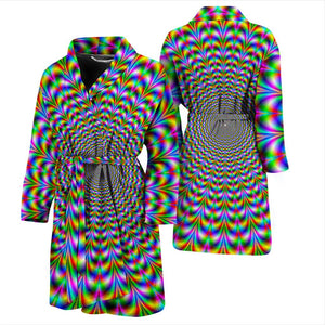 Psychedelic Web Optical Illusion Men's Bathrobe GearFrost