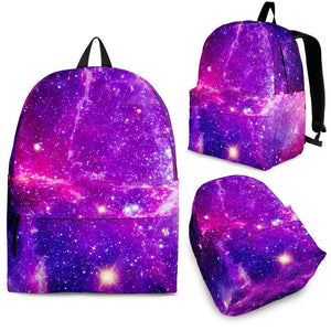 Purple Bursting Galaxy Space Print Backpack GearFrost