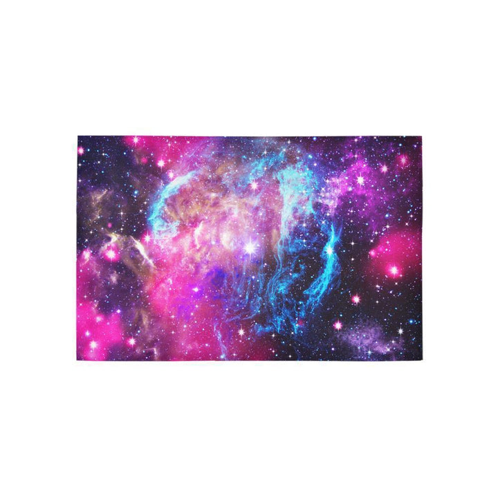 Purple Galaxy Space Blue Stardust Print 3 x 5 Indoor Area Rug GearFrost