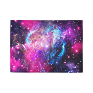 Purple Galaxy Space Blue Stardust Print 5 x 7 Indoor Area Rug GearFrost