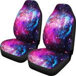 Purple Galaxy Space Blue Stardust Print Universal Fit Car Seat Covers GearFrost